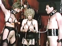Awesome retro BDSM session with nasty white lesbian ladies