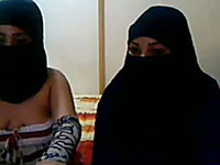 Kinky Arab nymphos in hijab enjoy posing on webcam for my delight