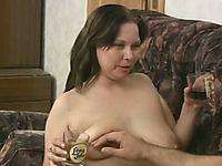 Lewd amateur black head wanna suck her boyfriend's strong cock