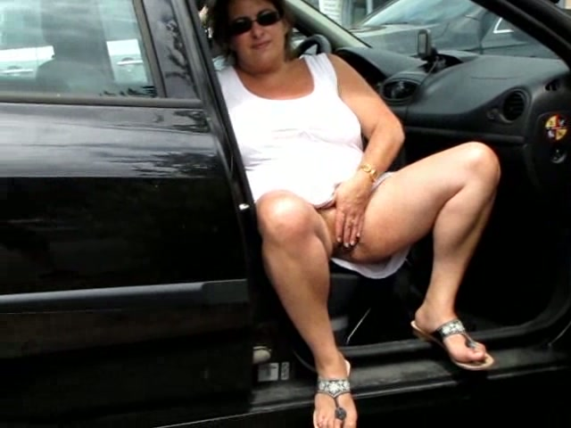 Girl Masturbates Parking Lot
