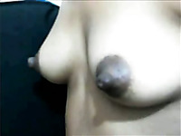 Horn-mad amateur casual chick flashes me her awesome huge dark nipples