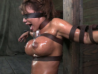 Crusified cougar Ava Devine loves to be exploited for rough oral sex