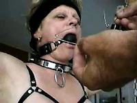 Punishing my light haired busty MILF wife with BDSM game