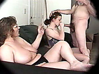 Awesome threesome with my voluptuous busty wife and neighbor chick