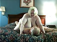 Mature SSBBW granny wife riding my cock on cam in our bedroom