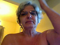 Curvy 62 years old webcam granny shows off her creamy snatch