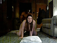 My big bottomed white GF loves when I push my BBC deep in her cunt
