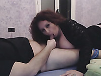Huge breasted amateur slut provides my buddy with a solid BJ