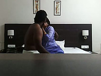 Sweet Chennai office girl with her boss in the hotel room
