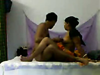 Hot and horny curvaceous Indian babe riding her man