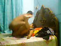 Submissive Kolkata married lady with her husband in bed
