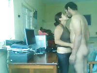Sexy and young Pakistani office worker fucks his colleague