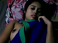 Sexy and stunning Indian teen babe flashing her boobies