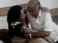 Sweet and naughty milf with her really old Indian hubby
