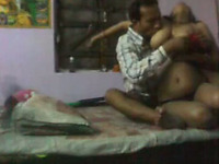 Horny Indian couple getting frisky for sex on camera
