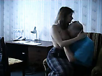 Enjoy horn-mad homemade porn video of Russian couple in action