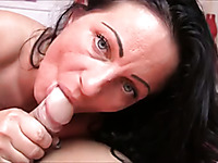 Tattooed dark haired girlfriend provided my fat strong dick with nice BJ