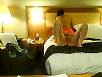 Slutty escort brunette nympho rode my buddy's dick in the hotel