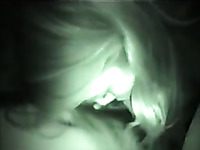 Wondrous busty blond haired bitch sucked me dry on night vision cam