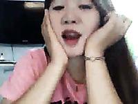 Cute Asian amateur webcam girlie fingerfucked her cunt for me