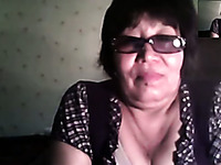 Short haired slutty nerdy webcam oldie stripteased for my buddy