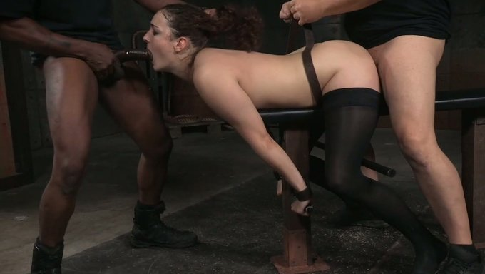 Dirty White Lady Restrained In Doggy Style Position For -3995