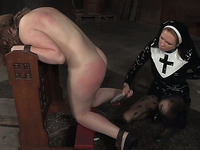 Filthy white sinner gets all her sins cast away with a strapon