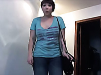 My all natural short haired wife loves fucking her anus with toys