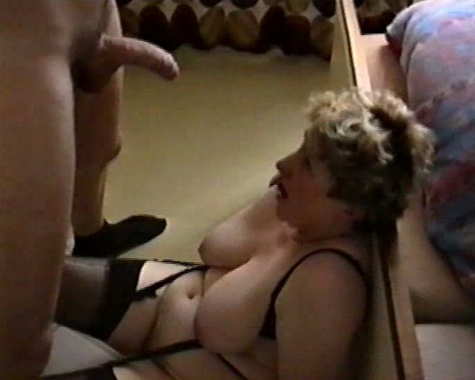 My wife sits her fat pussy down on my cock 4