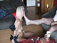 My sex-slave does everything my dick desires