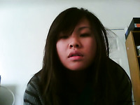 Cute and wicked amateur Asian teen strips on webcam