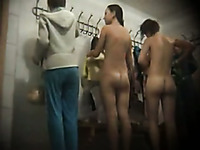 Hot video featuring chicks from the locker room