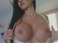 Busty Milf Got Cum On Her Face