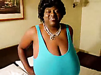 My mature ebony wife has a biggest knocker in the universe