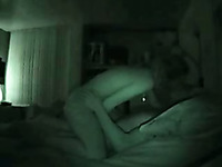 Night vision hidden cam video of me fucking my sultry wife