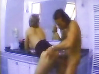 Hardcore fucking in bathroom with my voluptuous blonde wife