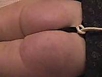 Bondage and whipping fun with my wife and her big white ass