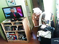 Hidden camera filmed my mature aunty half naked in her room