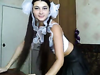 Russian college girl shows striptease for me on web camera