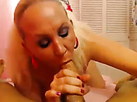 Drilling curvy blonde's tight ass hole in homemade video