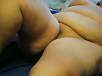 Fingering and toying fatty pussy of BBW mature woman