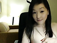 Amateur cute Korean girlie showed off her small pale titties for me