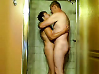 Nice romantic homemade vid of my mature neighbor couple in the shower