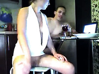 Awesome amateur threesome sex with filthy white lady
