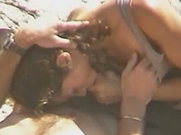 Hot and adorable white girlfriend blows dick on the beach