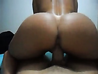 I ride my lover's hard dick in reverse cowgirl position