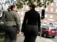 Amateur German MILF with big ass in tight pants - spy cam