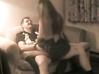 Hidden cam vid caught my slutty bitch dancing for her lover and giving BJ