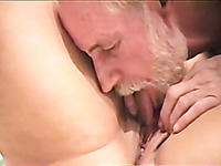 I finger fuck and lick juicy cunt of my sexy aged wife