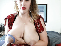This busty mature webcam model won't let the age slow her down